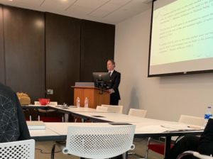 Eric Torberson teaching class at UT Law School February 2019